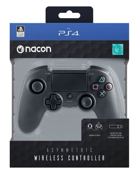 NACON CONTROLLER ASIMETRICAL WIRELESS/WIRED CONTROLLER PS4/PC, BLACK
