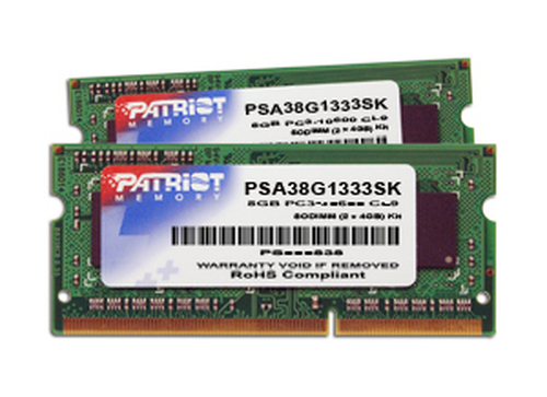PATRIOT RAM SODIMM 8GB (2X4GB) DDR3 1333MHZ PER APPLE