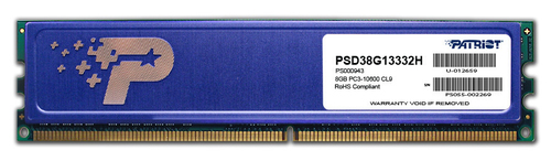 PATRIOT RAM DIMM 8GB DDR3 1333MHZ CL9 HEATSHIELD