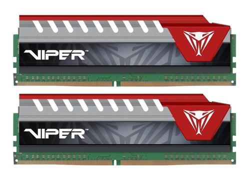 PATRIOT RAM VIPER ELITE DIMM 8GB (2X4GB DC) DDR4 2400MHZ RED