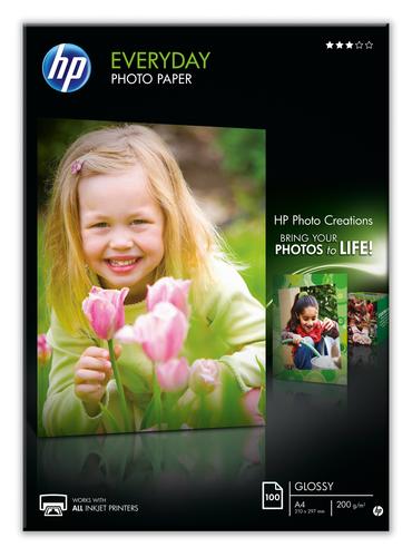 HP CARTA FOTOGRAFICA A4 200GR/M2 BIANCA LUCIDA 100FF