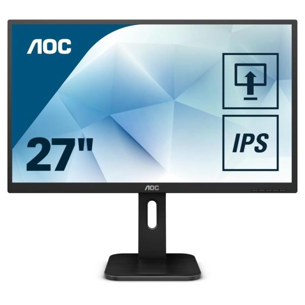 AOC MONITOR 27 LED IPS QHD 16:9 250CD/M 60HZ DP HDMI VGA