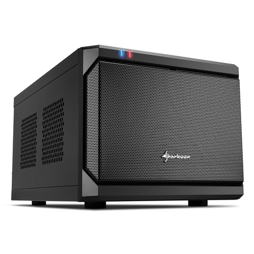 SHARKOON CASE MINI-ITX, 2 SLOT, SIDE PANEL METAL, 36.8 X 22.5 X 18.0 CM , USB 3.0, USB 2.0, 1X 120 MM FAN (PRE-INSTALLED), DRIVE BAYS 2,5
