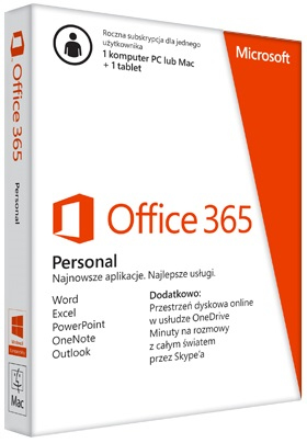 MICROSOFT OFFICE 365 PERSONAL ITA EUROZONE SUBSCR 1YR MEDIALESS