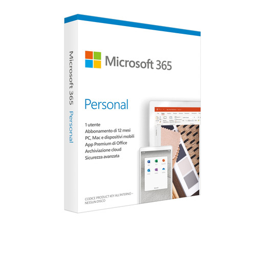 MICROSOFT OFFICE 365 PERSONAL SUBSCR 1YR MEDIALESS P6