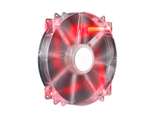COOLER MASTER VENTOLA PC MEGAFLOW 200MM  RED LED, 700RPM, RIFLE BEARING