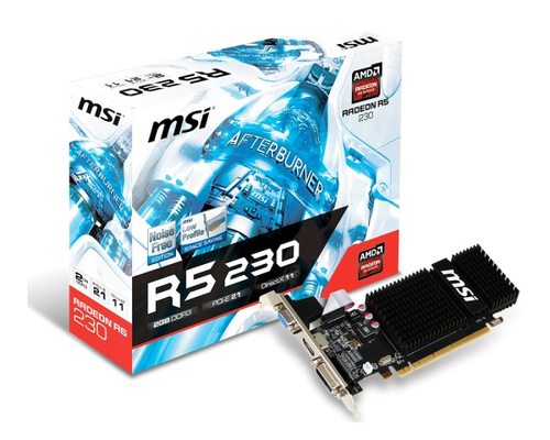 MSI VGA R5 230 2GB DDR3 PCI-E DVI-D VGA HDMI