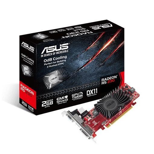 ASUS VGA AMD RADEON R5230 2GB DDR3 VGA DVI/DVI-D HDMI LOW PROFILE