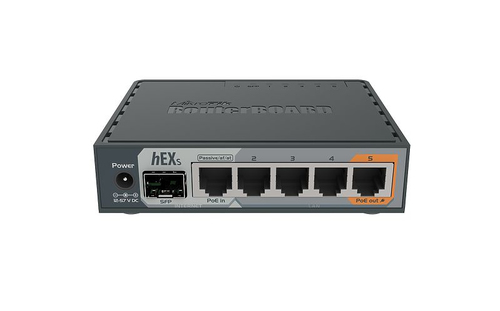 MIKROTIK ROUTERBOARD RB760IGS, 5XLAN GIGABIT DI CUI 1 POE, 1XSFP, 1XUSB, DUAL CORE 880MHZ, RAM 256MB