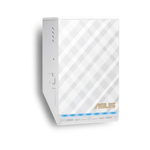 ASUS RANGE EXTENDER INDOOR AC750 DUAL BAND 1 PORTA 10/100 COMPATIBILITA AIRPLAY WPS