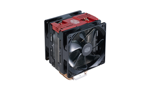COOLER MASTER DISSIPATORE CPU, HYPER 212 LED TURBO RED COVER, 2X120MM 600-1600RPM PWM FAN WITH RED LED, 4X6MM DIRECT CONTACT HEATPIPES, FULL SOCKET SUPPORT