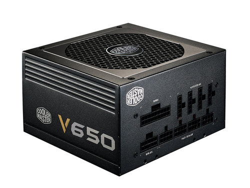 COOLER MASTER COOLER MASTER ALIMENTATORE V SERIES 650W 80PLUS GOLD W/120MM FAN, SIGNAL 12V RAIL, FULL MODULAR, EU CABLE