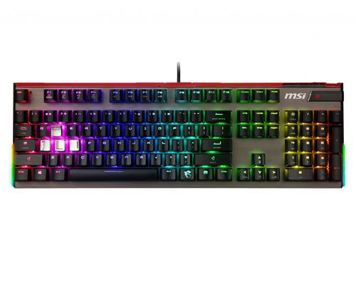 MSI TASTIERA MECCANICA GAMING VIGOR GK80 TASTI CHERRY MX RED, RGB 16,8MLN DI COLORI, LAYOUT ITA