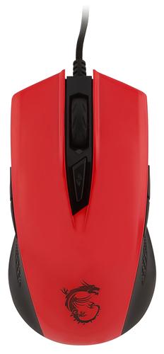 MSI MOUSE GAMING CLUTCH GM40 WIRED LED ROSSO SENSORE OTTICO AVAGO PMW3310. MAX DPI 5000. COLORE ROSSO.