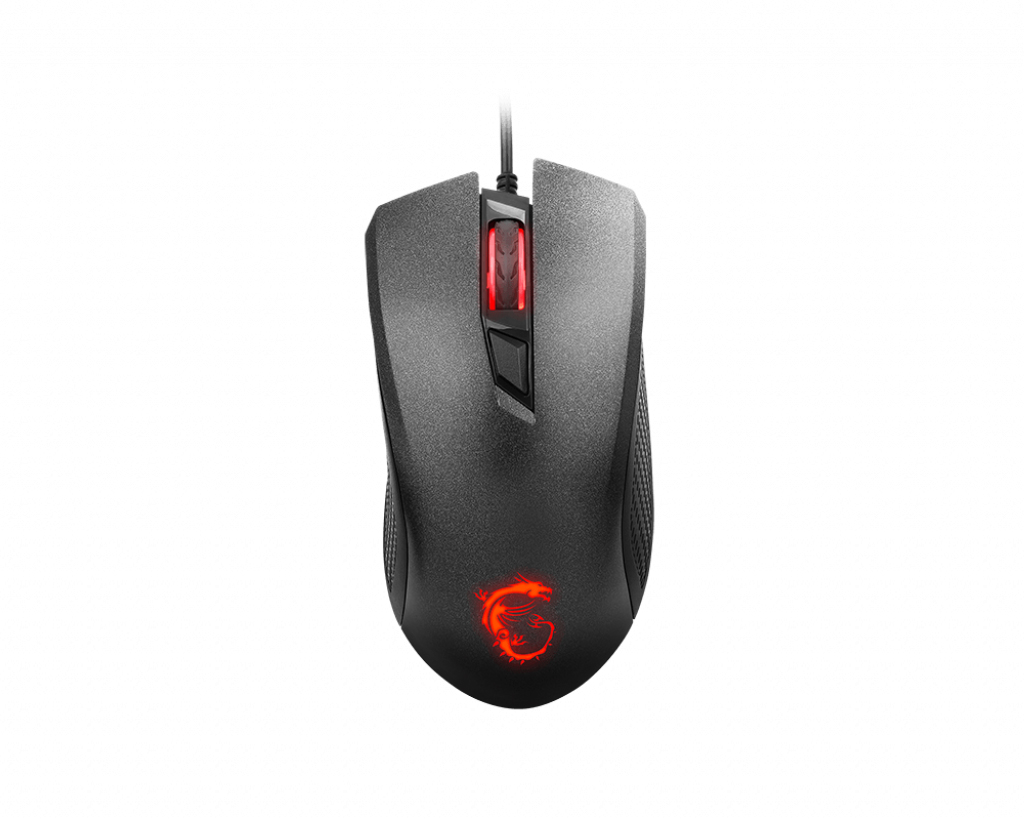 MSI MOUSE GAMING CLUTCH GM10 WIRED LED ROSSO SENSORE OTTICO