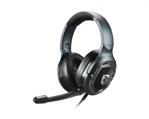 MSI CUFFIE HEADSET GAMING IMMERSE GH50, IN-LINE VOLUME E MIC CONTROL, MICROFONO REMOVIBILE, 3.5MM JACK, COLORE NERO