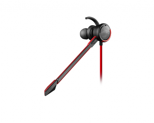 MSI CUFFIE HEADSET GAMING IMMERSE GH10, IN-LINE VOLUME E MIC CONTROL, MICROFONO REMOVIBILE, 3.5MM JACK, COMPATIBILITA IOS/ANDROID