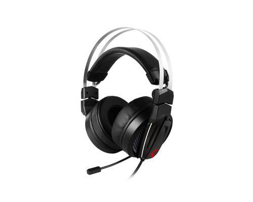 MSI CUFFIE HEADSET GAMING IMMERSE GH60, IN-LINE VOLUME E MIC CONTROL, MICROFONO REMOVIBILE, 3.5MM JACK, COLORE NERO