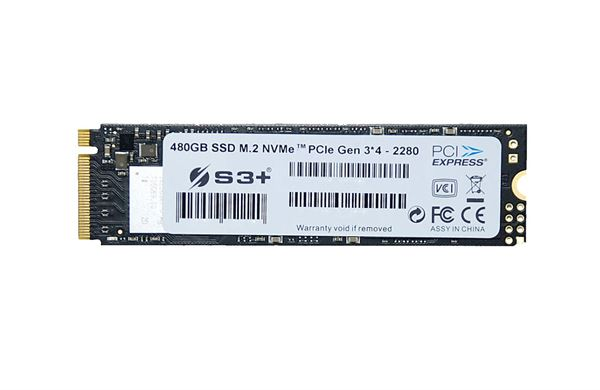 S3+ SSD 480GB S3+ SSD M.2 NVMe PCIe Gen 3 (2280)