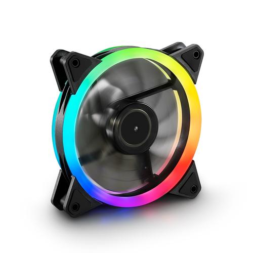 SHARKOON VENTOLA RGB, 56M3, 2.6MM-H2O, 19DB, 12V, 1.2W, RGB COLOR