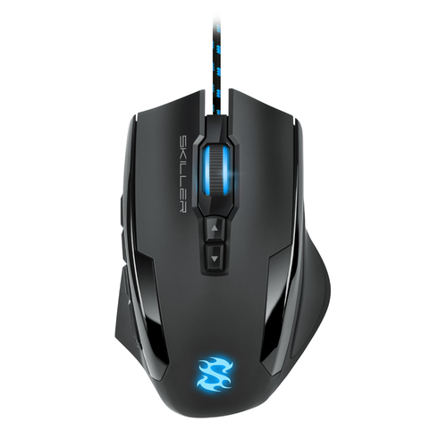 SHARKOON MOUSE GAMING SKILLER SGM1 10800 DPI MAX, RGB, USB 1,8MT, BLACK