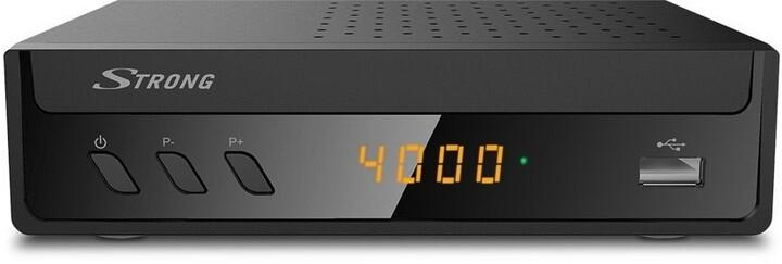 STRONG RICEVITORE DIGITALE HD COMBO PER PROGRAMMARE TV DVB-S2 E DVB-T2. REGISTRAZIONE USB. TIMESHIFT.