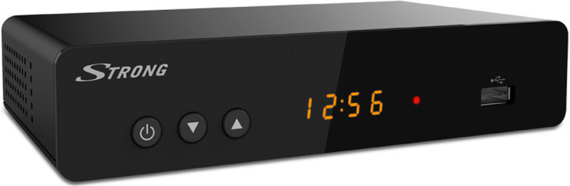 STRONG DECODER DOPPIO TUNER DVB-T2 HEVC USB HDMI SCART DISPLAY