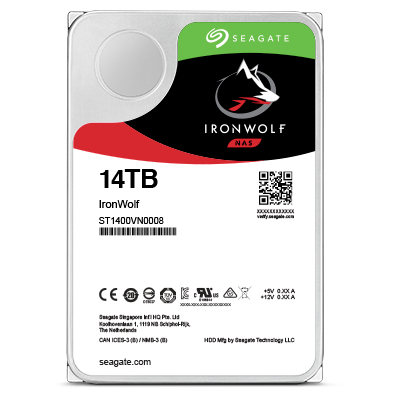 SEAGATE HDD IRONWOLF 14TB 3,5 7200RPM SATA3 256MB CACHE