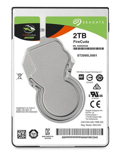 SEAGATE HDD IBRIDO SSHD FIRECUDA 2TB 8GB FLASH 2,5 SATA3
