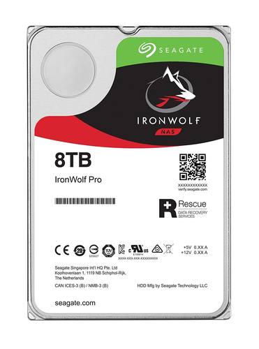SEAGATE HDD IRONWOLF PRO NAS 8TB 3,5 SATA3 7200RPM 256MB CACHE