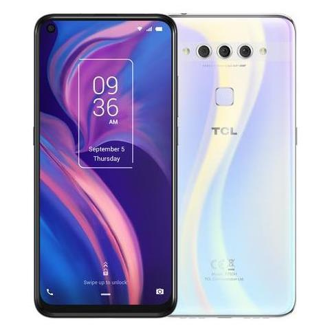 TCL SMARTPHONE DUAL SIM 6.53 ANDROID 9 PIE (AGGIORNABILE AD ANDROID10) 6GB+256GB OPAL WHITE
