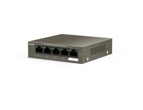 TENDA SWITCH 5 PORTE DI CUI 4X10/100 POE + 1X10/100 DATA, IEEE 802.3/U/X, IEEE802.3AF/AT IEEE, 58W