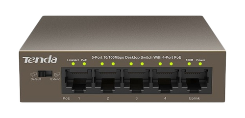TENDA SWITCH 5 PORTE LAN 10/100 DI CUI 4 POE