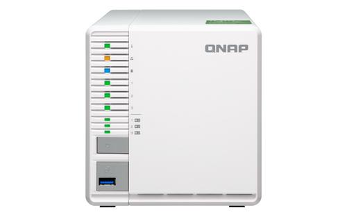 QNAP 3-BAY NAS, AL324 64-BIT QUAD-CORE 1.7GHZ, 2GB DDR4 SODIMM RAM (1 X    2GB, MAX 16GB), 8 X 3.5