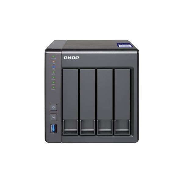 QNAP 4-BAY NAS,ANNAPURNA LABS AL314 QUAD CORE 1.7GHZ, 2GB DDR3 SODIMM RAM (MAX 8GB), SATA 6GB/S, 1X 10GBE SFP+ LAN, 2X GBE LAN,  HARDWARE