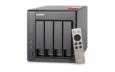 QNAP 4-BAY NAS  INTEL CELERON QUAD-CORE 2.0GHZ (UP TO 2.42GHZ)  8GB DDR3L  RAM (MAX 8GB)  SATA 6GB/S  2 X GBE  HARDWARE TRANSCODING  HDMI OUT
