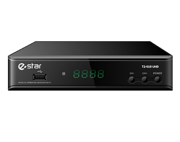 E-STAR DECODER UHD DVB-T/T2 TUNER MPEG-4/2  NERO