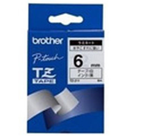 BROTHER NASTRO LAMINATO DA 6 MM (8 M) NERO/BIANCO