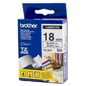 BROTHER NASTRO LAMINATO DA 18 MM (8 M) NERO/BIANCO