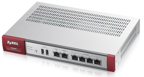 ZYXEL SECURITY GATEWAY 60 2xWAN, 4xLAN, 2xUSB, VPN: 40 IPSec/L2TP, 5 SSL PCI DSS, WLAN Controller 2AP, ANTIVIRUS, 25 UTENTI