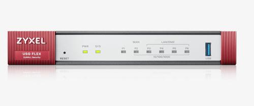 ZYXEL FIREWALL USG FLEX 100 SECURITY GATEWAY 1XWAN, 4XLAN, 1XUSB, VPN 40 IPSEC/L2TP, 30 SSL, AMAZON VPC, SSL INSPECTION, PCI DSS COMPLIANT, WLAN CONTROLLER 8 AP
