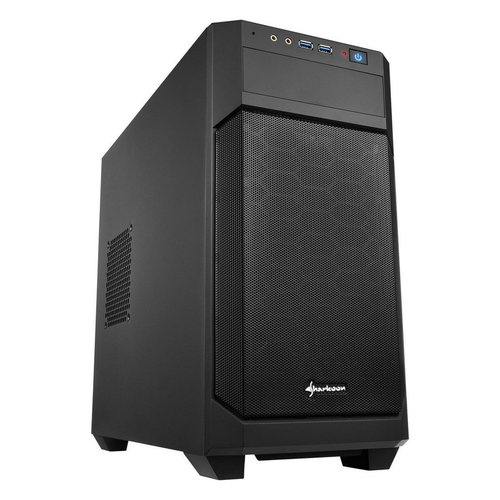 SHARKOON CASE MINI-ITX, MICRO-ATX, 2XUSB3.0, AUDIO IN-OUT, 1X120MM FAN FRONT, 1X120MM FAN REAR