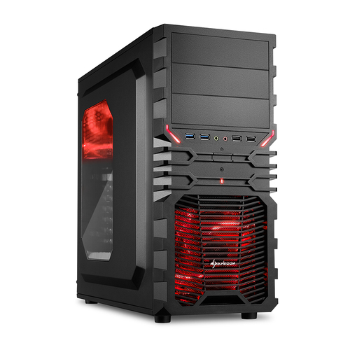 SHARKOON CASE, VG4 SERIES, ATX, 2XU2, 2XU3, WINDOW, 2XLED