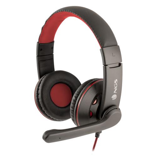 NGS CUFFIE VOX420 OVER-EAR, CONTROLLO VOLUME IN LINEA, MICROFONO FLESSIBILE E REGOLABILE, JACK 3.5MM