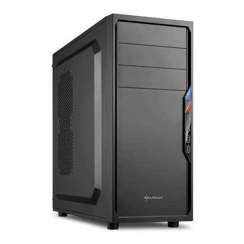 SHARKOON CASE VS4-S, ATX, 6 SLOTS EXPANSION, 2 USB2.0 FRONT, DRIVE BAY DA 2,5
