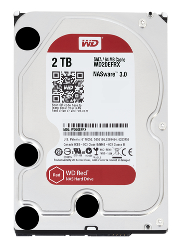 WESTERN DIGITAL HDD RED 2TB 3,5 INTELLIPOWER SATA 6GB/S 64MB CACHE