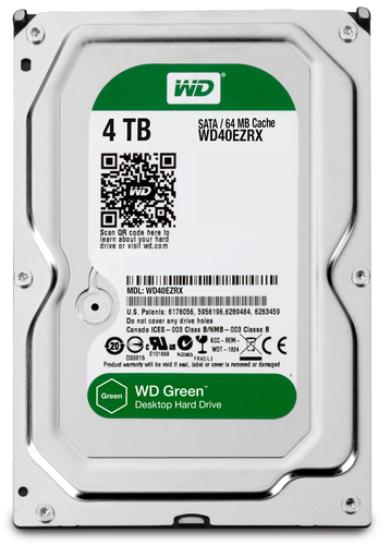 WESTERN DIGITAL HDD GREEN 4TB 3,5 REFURBISHED GARANZIA 1 ANNO