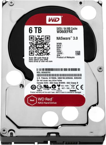 WESTERN DIGITAL HDD RED 6TB 3,5 5400RPM SATA 6GB/S 64MB CACHE