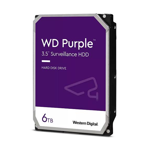 WESTERN DIGITAL HDD PURPLE 6TB 3,5 5400RPM SATA 6GB/S 128MB CACHE