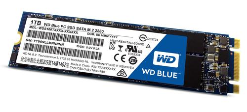 WESTERN DIGITAL SSD BLUE 1TB M.2 2280  R/W 545/525 MB/S